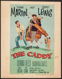 """The Caddy (Paramount, 1953). Trimmed Window Card (14"""" X 17.75""""). Sports"""
