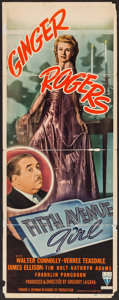 "Movie Posters:Comedy, Fifth Avenue Girl (RKO, 1939). Insert (14"" X 36""). Comedy.. ..."