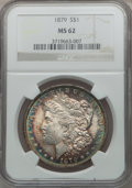 Morgan Dollars, 1879 $1 MS62 NGC; 1882 MS63 NGC; 1883 MS62 NGC; 1885 MS63 NGC and a1889 MS62 NGC.... (Total: 5 coins)