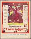 "Movie Posters:Drama, I Want to Live! (United Artists, 1958). Trimmed Window Card (14"" X 18""). Drama.. ..."