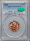 Lincoln Cents: , 1952 1C MS66+ Red PCGS. CAC. PCGS Population (469/9). NGC Census:(627/72). Mintage: 186,856,976. Numismedia Wsl. Price for...