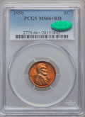 Lincoln Cents: , 1950 1C MS66+ Red PCGS. CAC. PCGS Population (494/19). NGC Census:(564/69). Mintage: 272,686,400. Numismedia Wsl. Price fo...