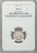 Three Cent Nickels: , 1879 3CN MS65 NGC. NGC Census: (42/24). PCGS Population (38/44). Mintage: 38,000. Numismedia Wsl. Price for problem free NG...