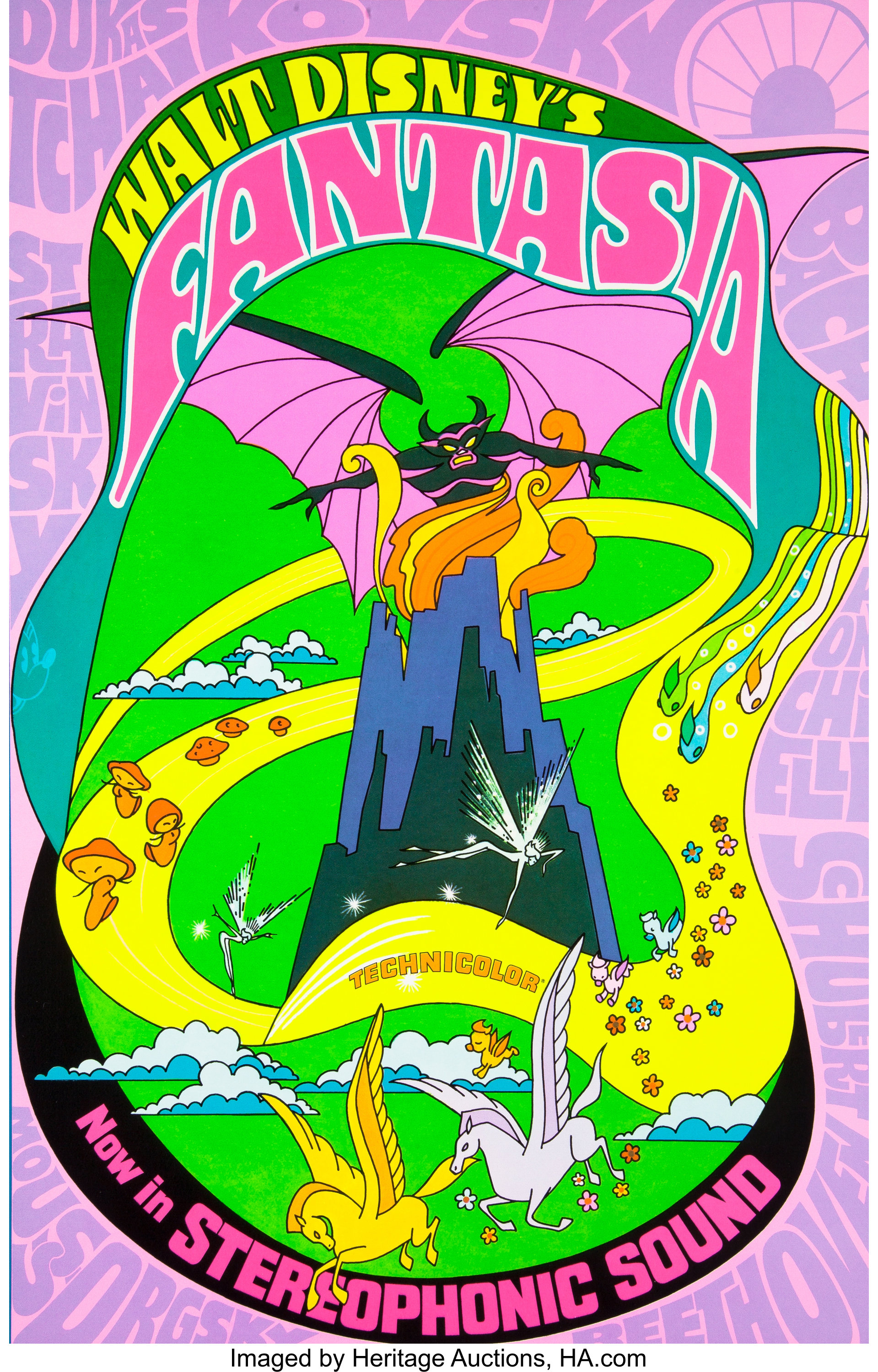 Fantasia Psychedelic Mini Poster And Handbill Group Walt Disney Lot 96182 Heritage Auctions