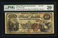 National Bank Notes:Pennsylvania, Mount Pleasant, PA - $10 1882 Brown Back Fr. 485 The Citizens NBCh. # (E)4875. ...