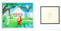 Animation Art:Production Cel, New Casper Cartoon Show Casper and Wendy Production Cels and Drawing Set-Up (Famous Studios/Paramount, 1963-64)....