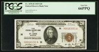 Fr. 1870-H $20 1929 Federal Reserve Bank Note. PCGS Gem New 66PPQ