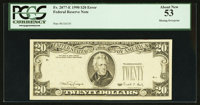Fr. 2077-E $20 1990 Federal Reserve Note. PCGS About New 53