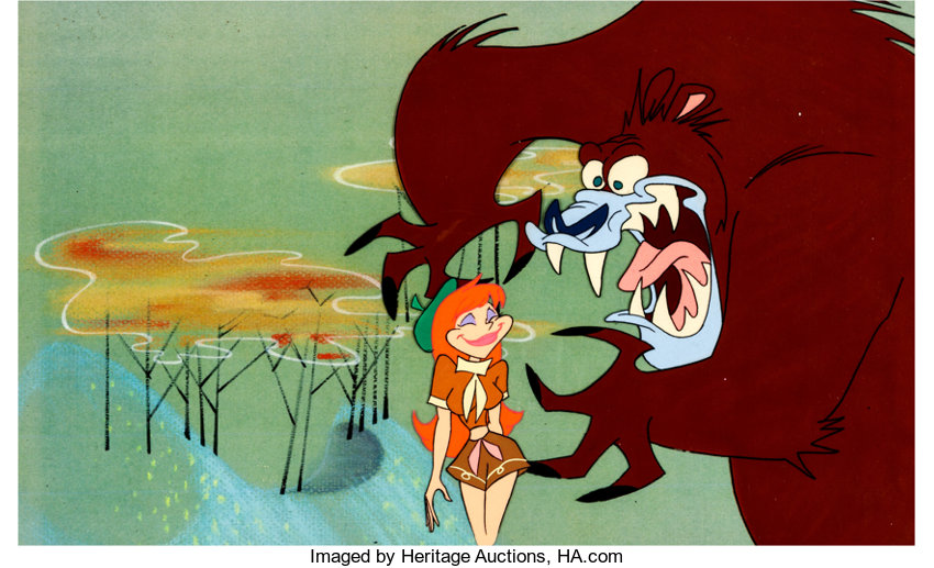 Troop Beverly Hills Opening Credits Production Cel (Columbia