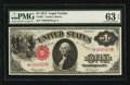 Large Size:Legal Tender Notes, Fr. 36* $1 1917 Legal Tender PMG Choice Uncirculated 63 EPQ.. ...