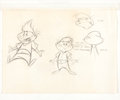 Animation Art:Production Drawing, Honey I Shrunk the Kids Opening Title Character DesignDrawings Group (Walt Disney, 1989).... (Total: 2 Items)