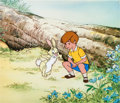 Animation Art:Production Cel, The Many Adventures of Winnie the Pooh Christopher Robin andRabbit Production Cel Set-Up (Walt Disney, 1977).... (Total: 3Items)