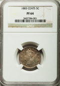 Proof Liberty Nickels: , 1883 5C With Cents PR64 NGC. NGC Census: (204/263). PCGS Population(295/224). Mintage: 6,783. Numismedia Wsl. Price for pr...