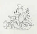 Animation Art:Production Drawing, The Dognapper Mickey Mouse and Donald Duck Production Drawing (Walt Disney, 1934)....