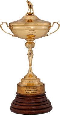 1969 Ryder Cup Captain's Trophy Presented to Sam Snead