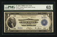 Fr. 711 $1 1918 Federal Reserve Bank Note PMG Choice Uncirculated 63 EPQ
