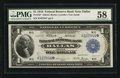 Fr. 742* $1 1918 Federal Reserve Bank Note PMG Choice About Uncirculated 58