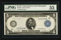 Large Size:Federal Reserve Notes, Fr. 879a* $5 1914 Federal Reserve Note PMG About Uncirculated 55.. ...