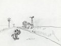Animation Art:Production Drawing, Felix the Cat Production Drawing (Paramount, c. late1950s-60s)....