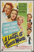 "Movie Posters:Drama, A Letter to Three Wives (20th Century Fox, 1949). One Sheet (27"" X41""). Drama.. ..."