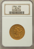 Liberty Eagles: , 1846 $10 VF20 NGC. NGC Census: (1/91). PCGS Population (1/67).Mintage: 20,095. Numismedia Wsl. Price for problem free NGC/...
