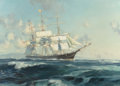 Fine Art - Painting, American:Contemporary   (1950 to present)  , JOHN STOBART (American, b. 1929). Ship N.B. Palmer Off GoldenGate, 1968. Oil on canvas. 26 x 36 inches (66.0 x 91.4 cm)...