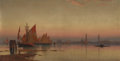 Paintings, WILLIAM STANLEY HASELTINE (American, 1835-1900). Venetian Coastline at Sunset, 1872. Oil on canvas. 26-1/2 x 51-1/4 inch...