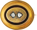Estate Jewelry:Brooches - Pins, Victorian Diamond, Gold Brooch. ...