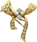 Estate Jewelry:Brooches - Pins, Diamond, Gold Brooch, H.L. Brown. ...