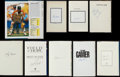 Baseball Collectibles:Publications, Baseball Greats Signed Hardcover Books Lot of 9 and Signed Card....