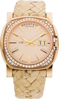 "Estate Jewelry:Watches, Bedat & Co. Lady's Diamond, Pink Gold ""No. 8"" Wristwatch. ..."