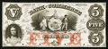 Obsoletes By State:Georgia, Savannah, GA- The Bank of Commerce $5 Proof. ...