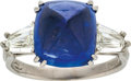 Estate Jewelry:Rings, Sapphire, Diamond, Platinum Ring, Daussi. ...