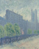 GUY CARLETON WIGGINS (American, 1883-1962) Just Off 5th Avenue at 53rd Street (à la Childe Hassam), 1939 Oil on c...