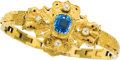 Estate Jewelry:Bracelets, Antique Sapphire, Diamond, Gold Bracelet. ...