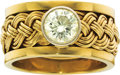 Estate Jewelry:Rings, Gentleman's Diamond, Gold Ring . ...