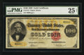 Large Size:Gold Certificates, Fr. 1212 $100 1882 Gold Certificate PMG Very Fine 25 Net.. ...
