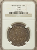 Bust Half Dollars, 1827 50C Square Base 2 XF45 NGC. O-108a. NGC Census: (202/1636).PCGS Population (258/1291). Mintage: 5,493,400. Numismedia...