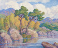 Fine Art - Painting, American:Modern  (1900 1949)  , BIRGER SANDZÉN (American, 1871-1954). In the Canyon (North SaintVrain, Colorado), 1942. Oil on panel. 25 x 30 inches (6...
