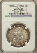 Bust Half Dollars, 1832 50C Small Letters -- Obverse Scratched -- NGC Details. AU.O-118. NGC Census: (143/1390). PCGS Population (224/117...