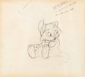 Animation Art:Production Drawing, Pinocchio Figaro Production Drawing (Walt Disney, 1940)....