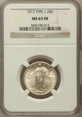 Standing Liberty Quarters: , 1917 25C Type One MS63 Full Head NGC. NGC Census: (685/2389). PCGSPopulation (1129/3143). Mintage: 8,740,000. Numismedia W...