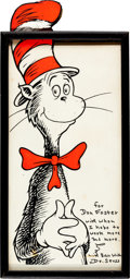 Animation Art:Poster, The Cat in the Hat Silkscreen Print Signed by Dr. Seuss (c.1970s)....