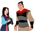 Animation Art:Production Cel, Mulan Mulan and Li Shang Color Model Cel (Walt Disney,1998).... (Total: 2 Items)