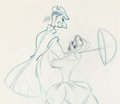 Animation Art:Production Drawing, The Adventures of Ichabod and Mr. Toad Production Drawing (Walt Disney, 1949)....