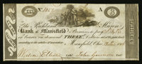 Mansfield, OH- The Richland & Huron Bank of Mansfield $3 Dec. 18, 1816 G14 Wolka 1541-08