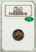 Proof Indian Cents, 1859 1C PR64 NGC. CAC....