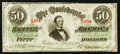 Confederate Notes:1863 Issues, T57 $50 1863 PF-15 Cr. Unlisted.. ...