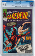 Silver Age (1956-1969):Superhero, Daredevil #7 (Marvel, 1965) CGC NM 9.4 Off-white to white pages....