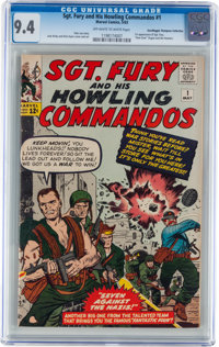 Sgt. Fury and His Howling Commandos #1 Don/Maggie Thompson Collection pedigree (Marvel, 1963) CGC NM 9.4 Off-white to wh...